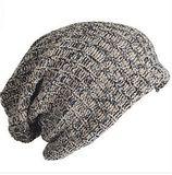 欧美中性流行双纱混织双层松垮加长比尼帽