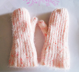 欧美出口外贸女式羽毛纱冰岛毛直条包指针织手套