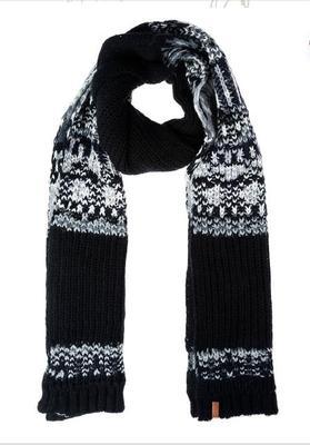 欧美男式腈纶多股纱接织分段条纹针织围巾