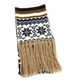 欧美新款针织圣诞雪花提花围巾