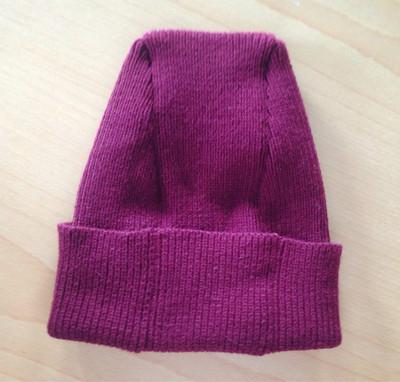 女式外贸欧美羊毛针织平顶帽