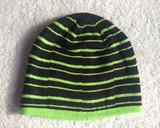 新款男式针织不对称条纹比尼帽