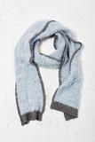 女式欧美柔软撞色锦纶针织围巾